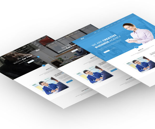 Misti – One Page Corporate and Business  Landing template - 2